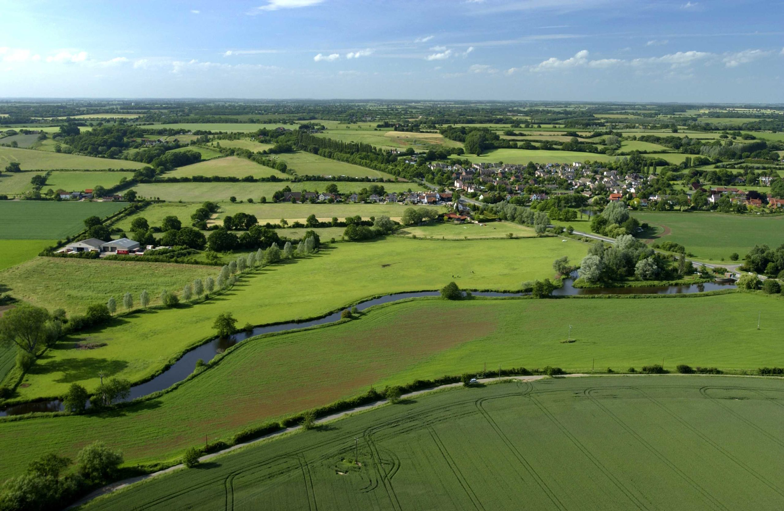 A photo of rural landscape from Nayland looking north