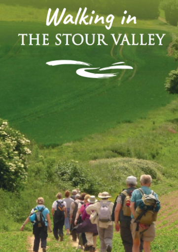 An image of the front cover of the Walking in Stour Valley visitor guide