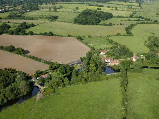Aerial view of Flatford