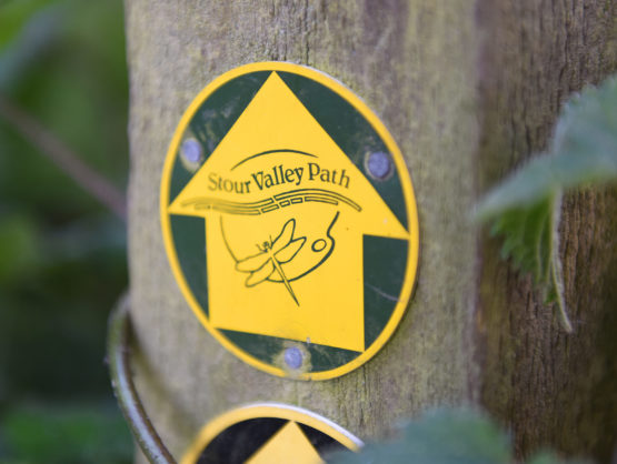 Close up of Stour Valley Path sign